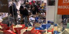 Zerstörungswut bei Rabattschlacht in der Lugner City