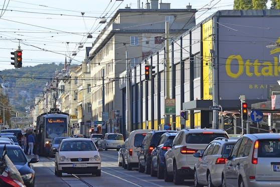 Die Wiener Thaliastraße.