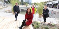 Schwimmende Gärten am Wiener Donaukanal eröffnet