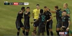 Fußballspiel wegen Homophobie-Eklat abgebrochen