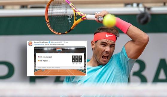 Rafael Nadal lieferte Burger King eine Steilvorlage.