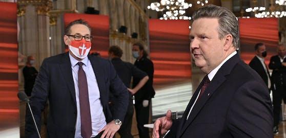 Michael Ludwig (SPÖ) und Heinz-Christian Strache (THC).