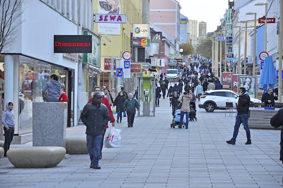 Blick in die Meidlinger Hauptstraße, Wien. Archivbild, 2017