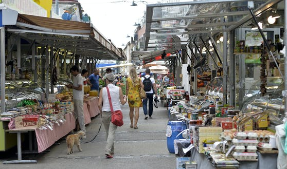 Der Brunnenmarkt in Wien-Ottakring.