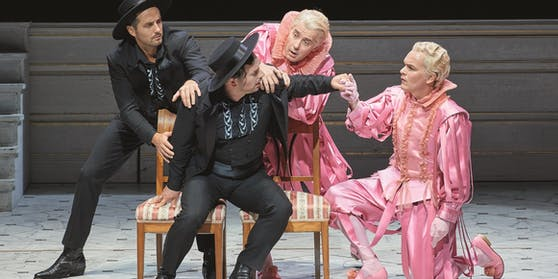 Behle (vorne links) als Besmonte mit Goran Jurić als Osmin