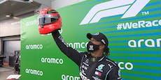Hamilton bekommt Schumacher-Helm für Rekordfahrt
