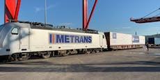 Millionen-Zug fährt von Linz nach China