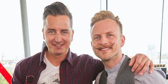 """""""Dancing Star"""", Sänger und Neo-Moderator Willi Gabalier (rechts) mit Bruder Andreas, hauptberuflich """"Volks Rock'n Roller"""""""