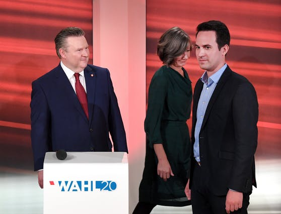 Michael Ludwig (SPÖ) und Christoph Wiederkehr (Neos) bilden eine Koalition, die Grüne BirgitHebein fliegt aus der Stadtregierung.