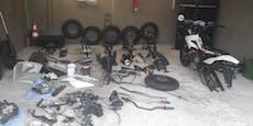 Burschen stahlen Mopeds, boten Ersatzteile zum Kauf an