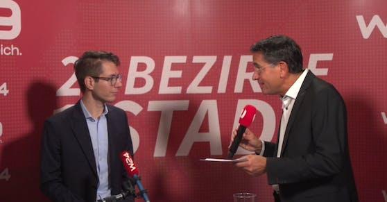 """""""Heute.at""""-Chefredakteur Clemens Oistric (li.) analysiert den Absturz der FPÖ."""