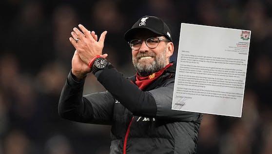 Jürgen Klopp antwortet auf den Brief eines 11-jährigen Fans