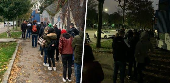 Sport-Club-Fans warten auf Austria-Karten
