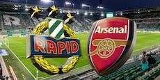 Warum besichtigt Arsenal das Rapid-Stadion nicht?