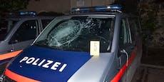 Betrunkener (26) zerstört zahlreiche Polizeiautos