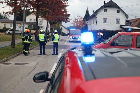 Die angebohrte Gasleitung löste einen Großeinsatz der Feuerwehren ein.