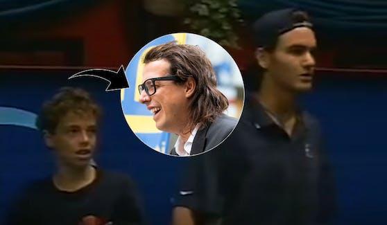 Der junge Federer (r.), der noch jüngere Pogo