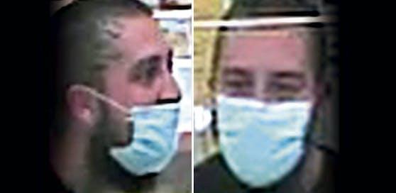 Die Polizei veröffentlichte am Donnerstag Fotos des mutmaßlichen Angreifers. Er soll einen Angestellten in Linz mit einem Messer bedroht haben.