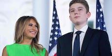 Melania Trump sagt, dass auch Sohn Barron Coronahatte
