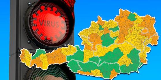 Diesen Bezirken droht rotes Licht auf der Corona-Ampel