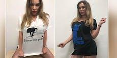 Lugner-Stripperin sorgt in Gudenus-Shirts für Aufregung