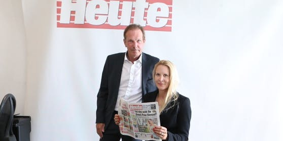 """Die """"Heute""""-Geschäftsführer Eva Dichand und Wolfgang Jansky"""