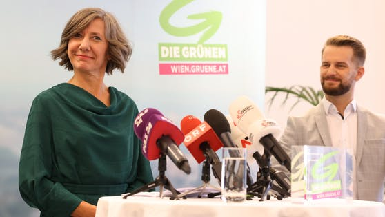 Grünen-Chefin Birgit Hebein und der grüne Planungssprecher Peter Kraus