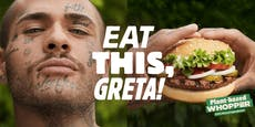 """Eat this!"" Burger King empört mit Greta-Werbung"