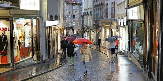 Der Streit zwischen dem Radfahrer und dem Fußgänger eskalierte in Graz.