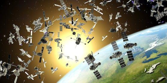Tausende Kilometer über unseren Köpfen sammelt sich der Weltraummüll. Kollisionen sind hier vorprogrammiert.
