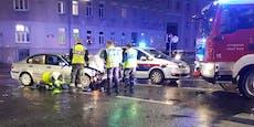 Totalschaden nach Unfall: Feuerwehr musste ausrücken