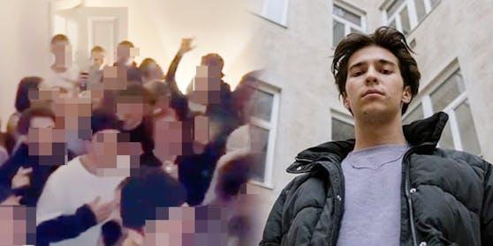 Gemeinsam mit anderen Rap-Kollegen trat Bibiza in einer Wiener Wohnung auf.
