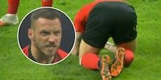 Arnautovic holt sich bei Nullnummer blutige Nase