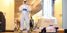 Fitness-Roboter strahlt Viren weg