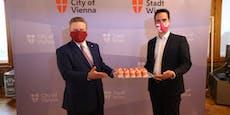 """Punschkrapferl-Koalition""?So süß lief SPÖ-Neos-Termin"