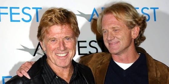 Robert Redford mit seinem Sohn James