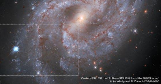 So sieht es aus, wenn ein Stern explodiert.
