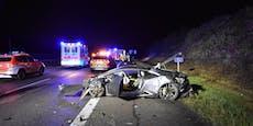 Lamborghini ist nach Crash mit Audi nur noch Schrott