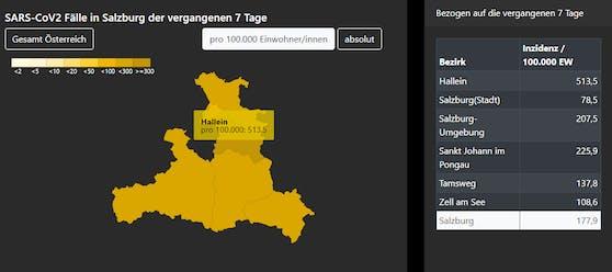 Salzburg: Die Corona-Zahlen explodieren