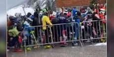 Wirbel um Video: Ski-Fans pfeifen auf Corona-Abstand