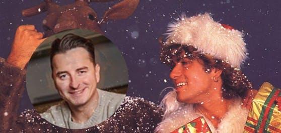 "Andreas Gabalier covert für""A Volks-Rock'n'Roll Christmas"" den Weihachts-Klasssiker von George Michael (rechts), ""Last Christmas"""