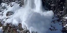 Während Contest: Snowboard-Star filmt Lawinenabgang