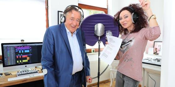 Richard und Christina Lugner im Tonstudio