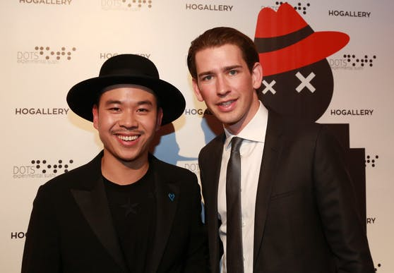 Promi-Wirt Martin Ho und Bundeskanzler Sebastian Kurz sind gute Freunde.