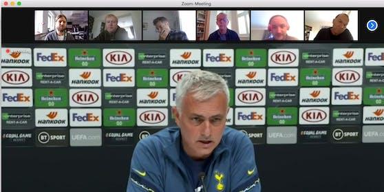 """Heute"" beim Zoom-Meeting mit Jose Mourinho."