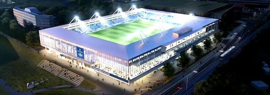 So soll das neue Donauparkstadion aussehen.