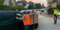 Anrainer-Protest gegen Eltern-Taxi in Linz