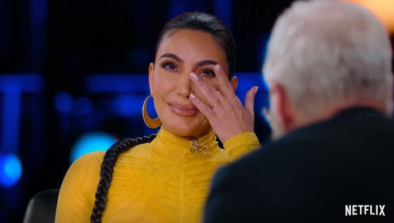 In der Netflix-Show von David Lettermann kullern bei Kim Kardashian die Tränen.