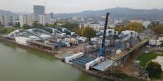 Erste Fotos von (fast) fertiger Donaubrücke in Linz