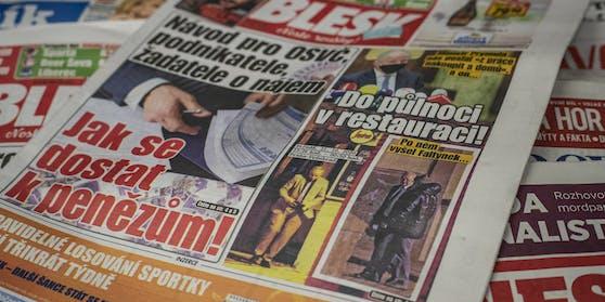 """Das Titelblatt der Zeitung """"Blesk"""""""
